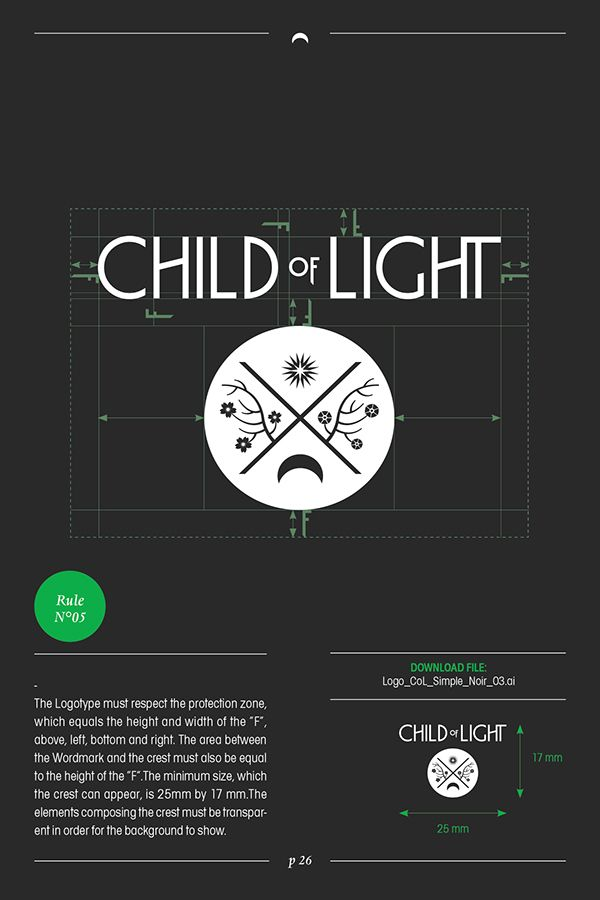 Child of Light Logotype & Guideline on Behance