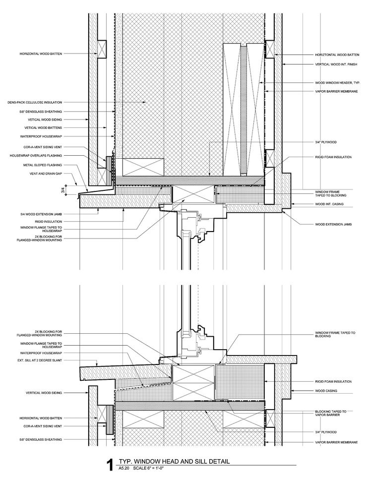 passivhaus window head and sill architectural plans models presentation pinterest window. Black Bedroom Furniture Sets. Home Design Ideas