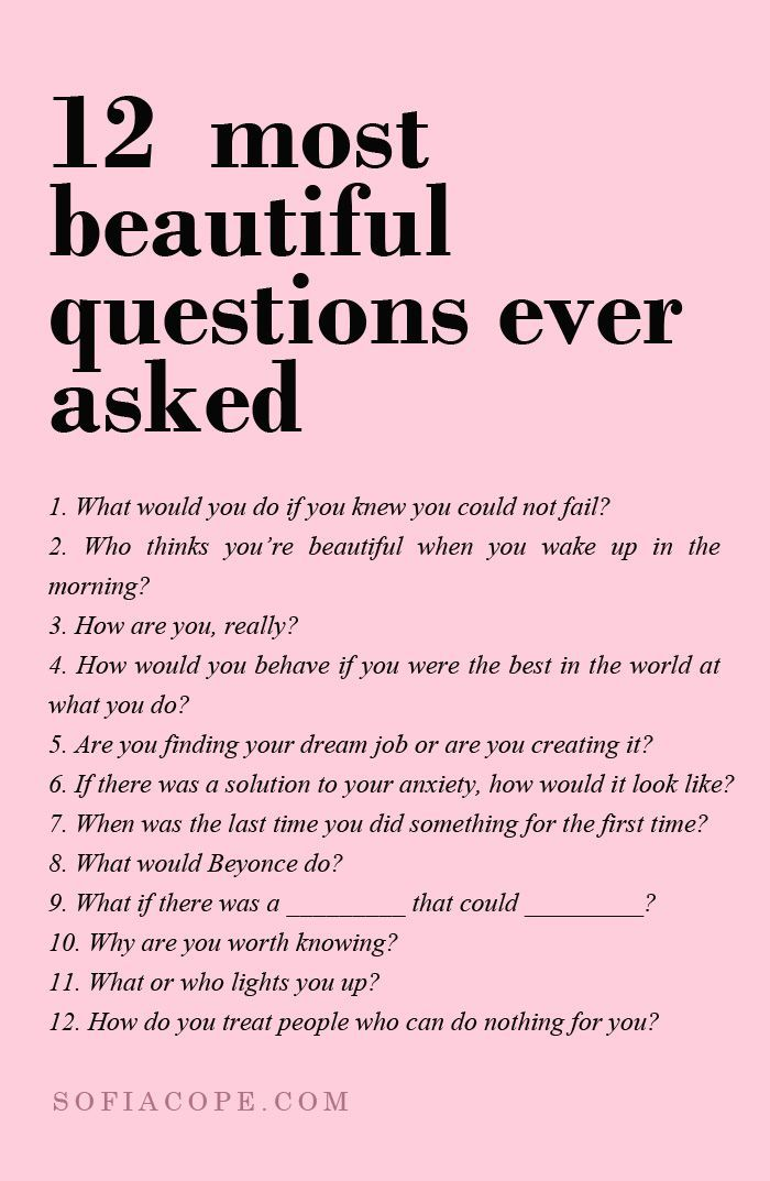 Questions to be asked to a girl
