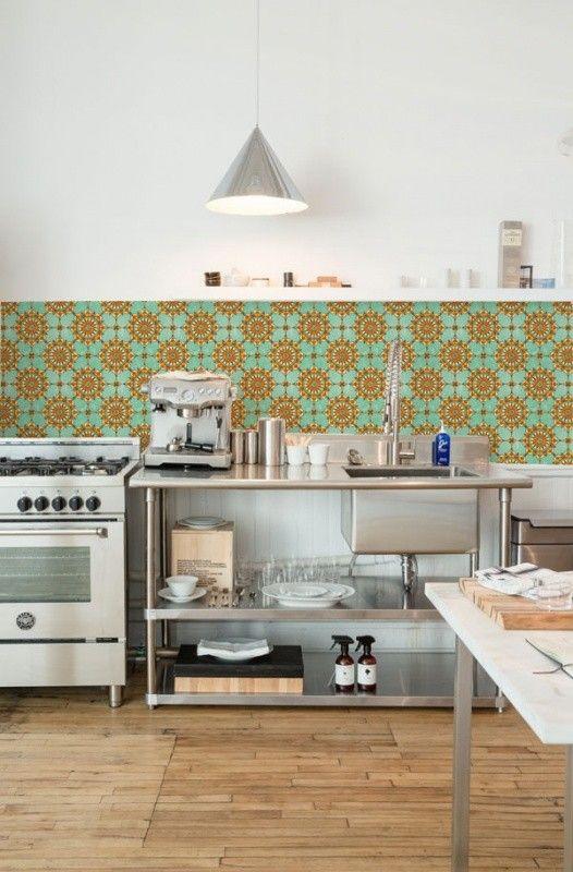 Funky-friday Kitchen Walls behang keuken achterwand Ibiza hippie tegels