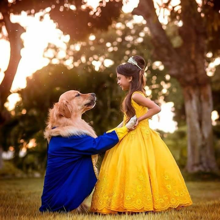 The Beauty Dog And The Beast Girl With Images Girl And Dog