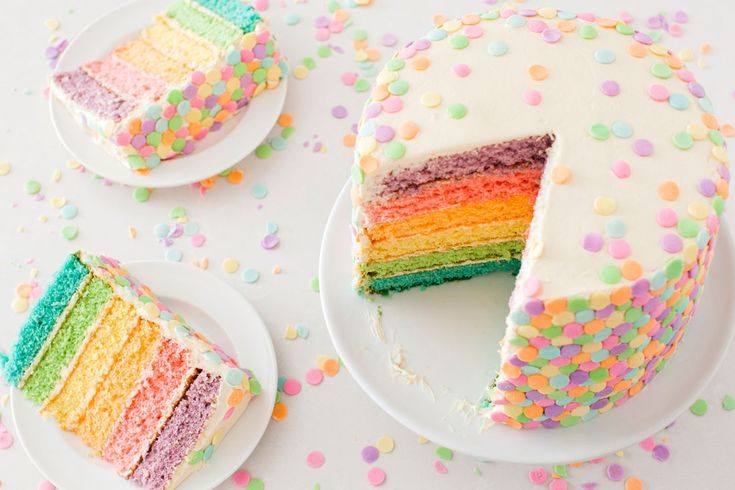 Some Bunny's Going to Love This Spring Pastel Confetti Cake via Brit + Co.