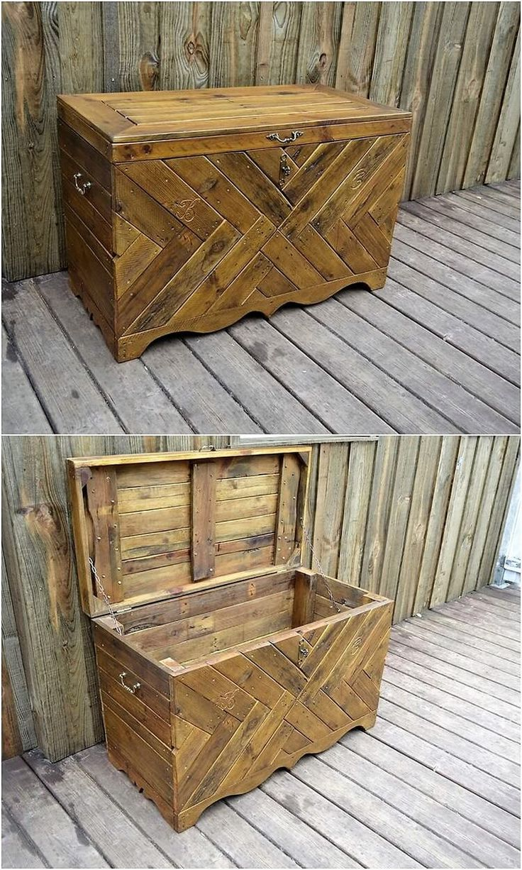 In this wood pallet idea, we will be mentioning about the simple created wood pallet storage box. Thus this storage box is shaped in the form of chest. They are much easy to create in terms of designing which you can even do it by your own.