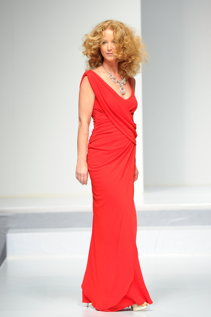 Susan Haskell wearing David Dixon - The Heart Truth Canada