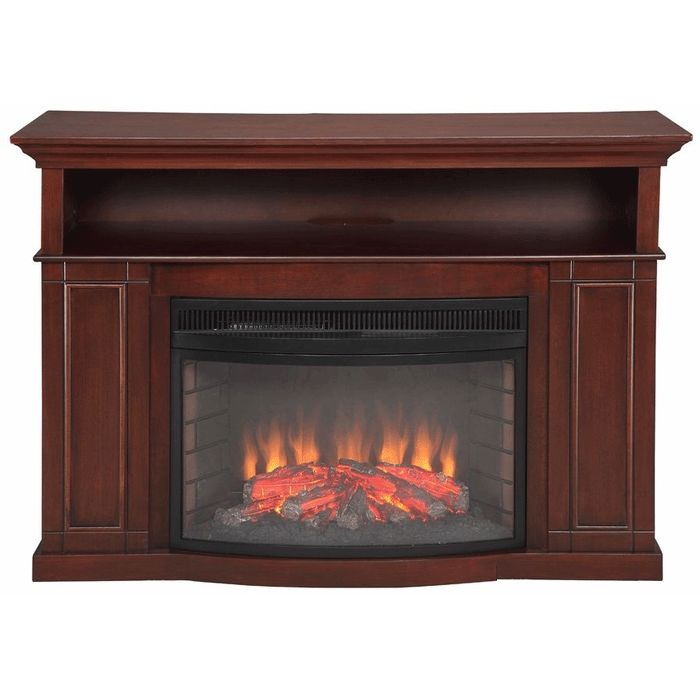 Tv Stand With Electric Fireplace Inch Flat Screen Tv Stand With Electric Fireplace Cherry