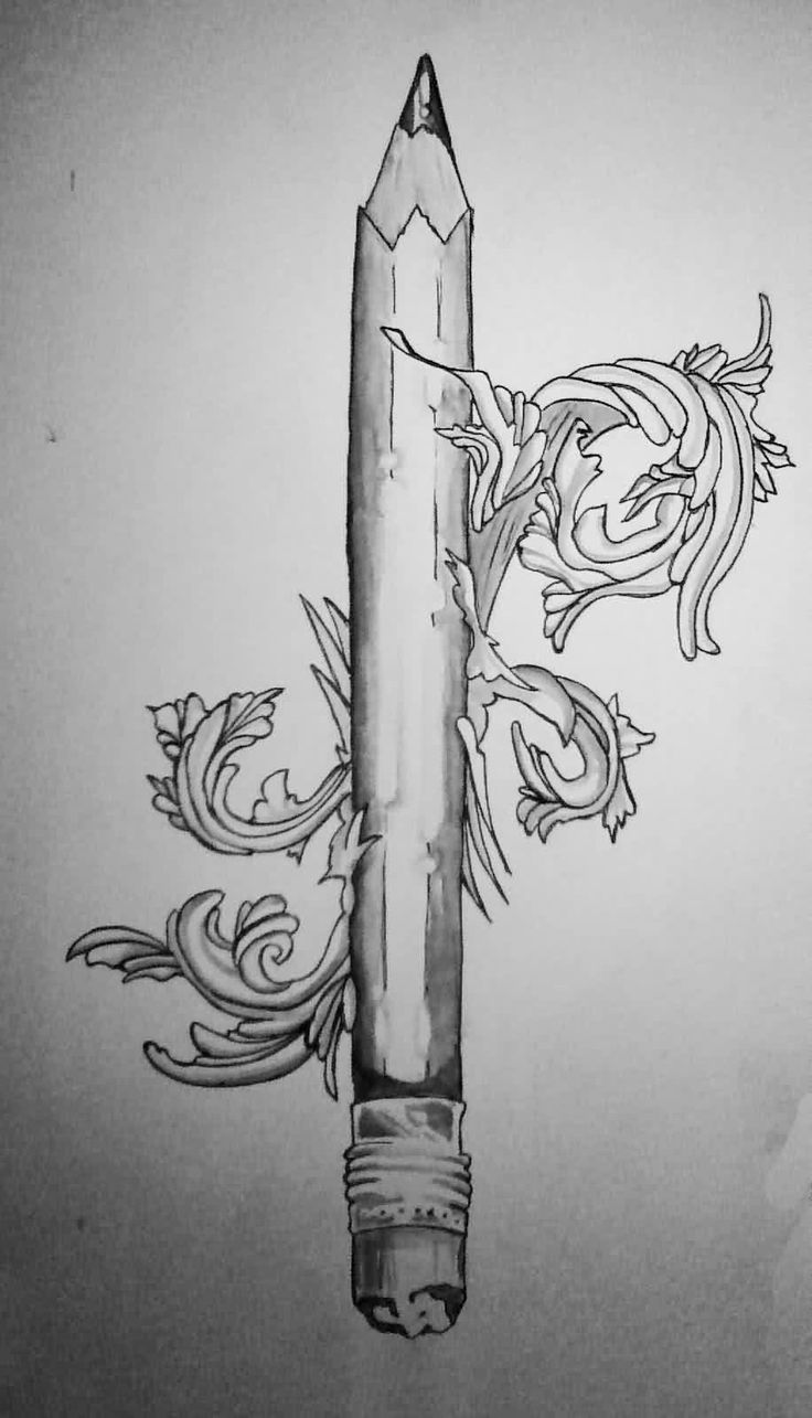 Pencil Tattoos Designs And Ideas : Page 3