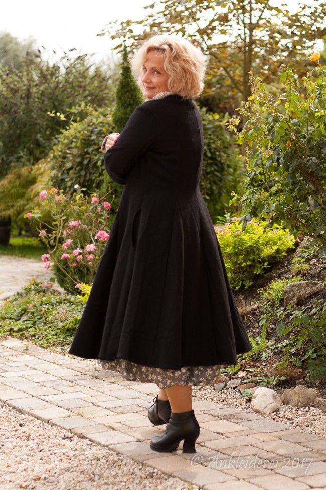Ewa i Walla Mantel Wool Black 66284 AW17 | Ankleiderei | Skandinavische Mode von Ewa i Walla - Les Ours