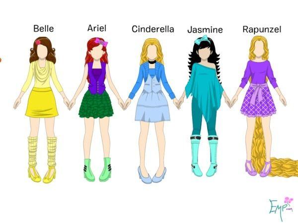 Modern Disney Princesses | Disney.com/Create - Modern Disney Princesses - emp0804