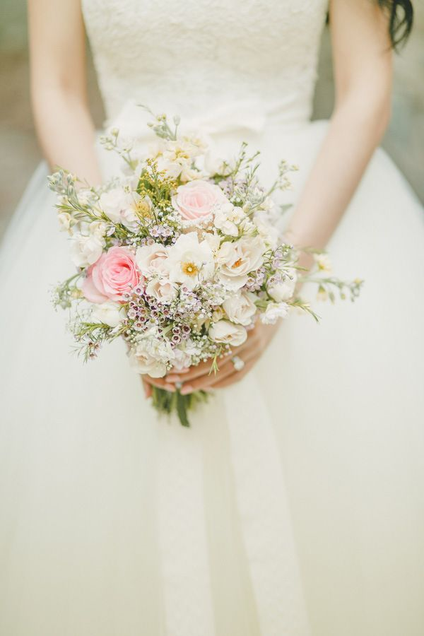 Delicate Wildflower Bouquet | Kristen Booth Photography | Enchanting Mountain Bridal Portraits in a Fairy Tale Forest