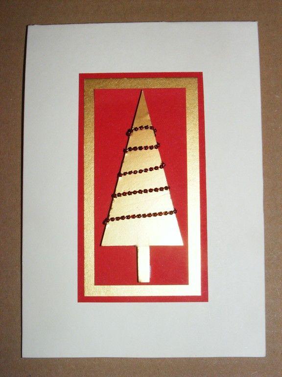 Weihnachtsgrüße Als Tannenbaum.Bastelecke Weihnachtskarte 12 Kartengestaltung Karte