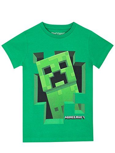 buy now   £10.95   Boys Minecraft T-Shirt. Add something mine-tastic to their wardrobes with this awesome green Minecraft top! Featuring an eye-catching design of a Creeper, this Minecraft Tee is just  ...Read More