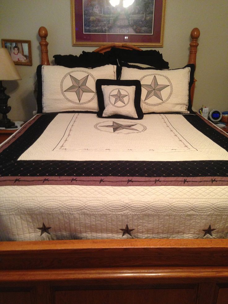 Lovely Texas Star Quilted bedding found at bed Bath Beyond