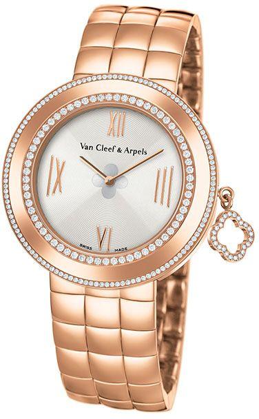 WNRI00K1-1 Van Cleef & Arpels Charms M - швейцарские женские часы - наручные, золотые с бриллиантами, белые