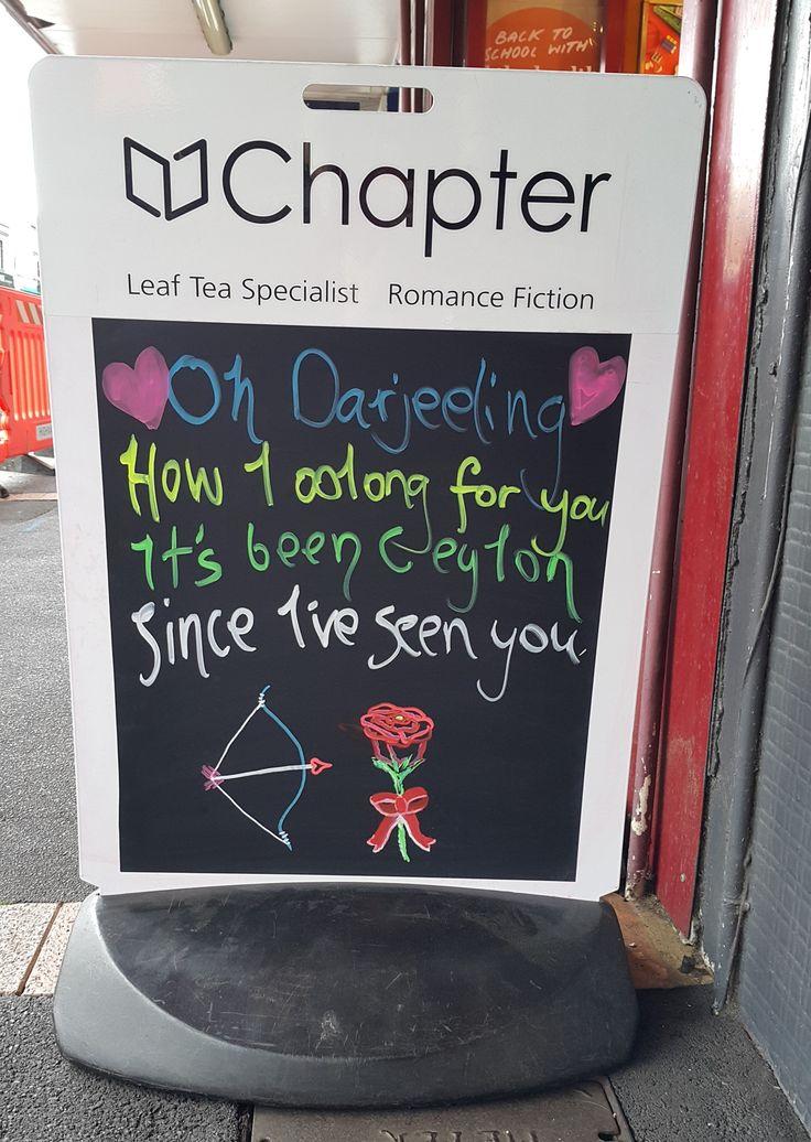 Tea inspired Valentine's Blackboard
