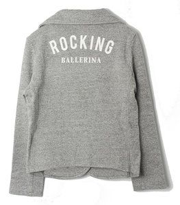 GIRLS SWEATBLAZER ROCKING BALLERINA -GREY_0