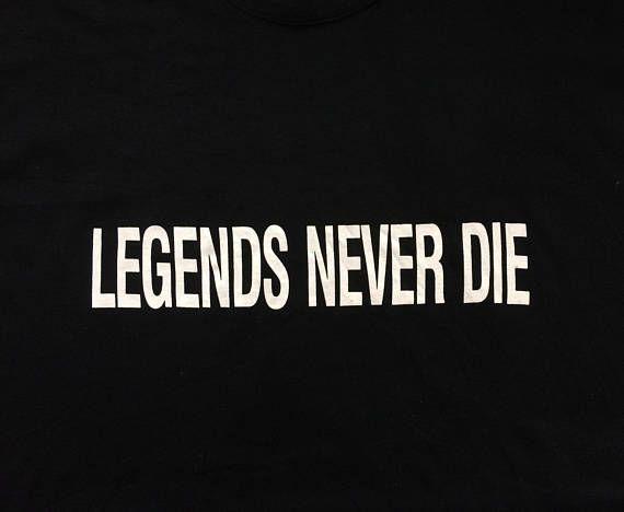 Vintage Levis Legends Never Die 501 Levis 90s Size Lg T Shirt Legend Vintage Levis Die Quotes