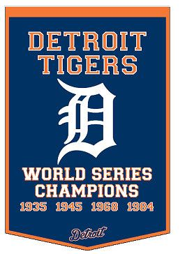 Detroit Tigers World Series Champs Banner