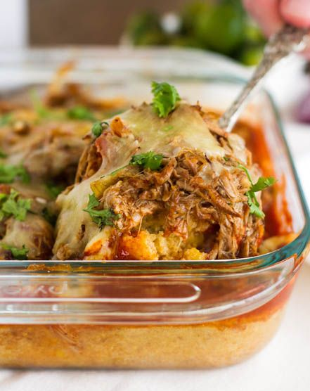 Carnitas Tamale Pie Recipe (Mexican Shredded Pork Pie). This Is Seriously The Best Casserole Dish Ever!