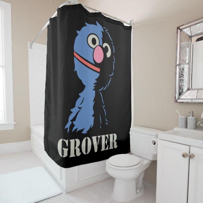 Grover Half Shower Curtain Zazzle Com Custom Shower Curtains