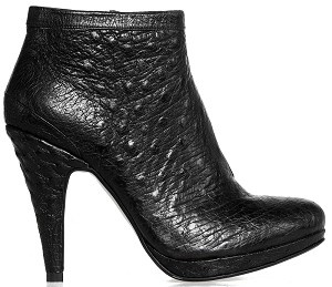 Boot ankle glamour black ostrich