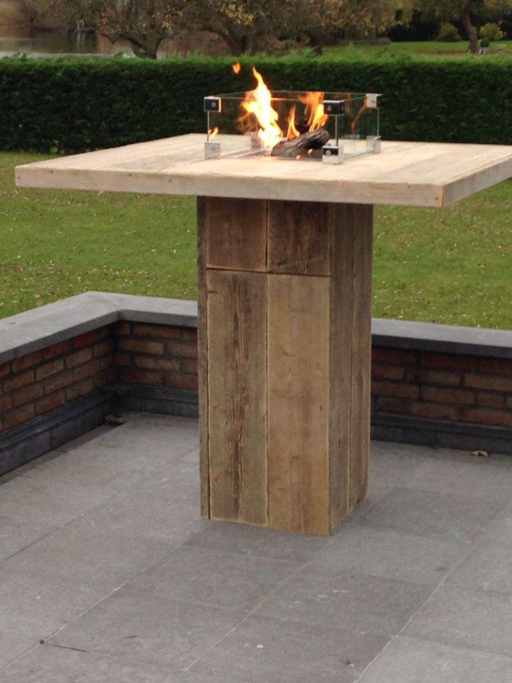25 beste idee n over vuur tafel op pinterest vuurplaats tafel achtertuin vuurplaatsen en - Buitenste stenen bar ...