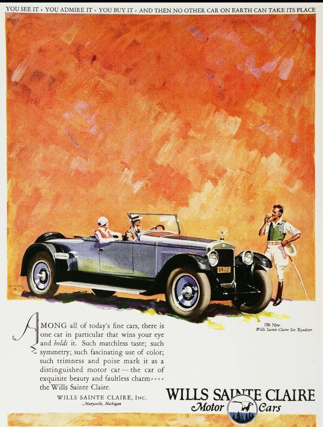 Wills Sainte Claire Motor Cars | More on the myLusciousLife blog: www.mylusciouslife.com
