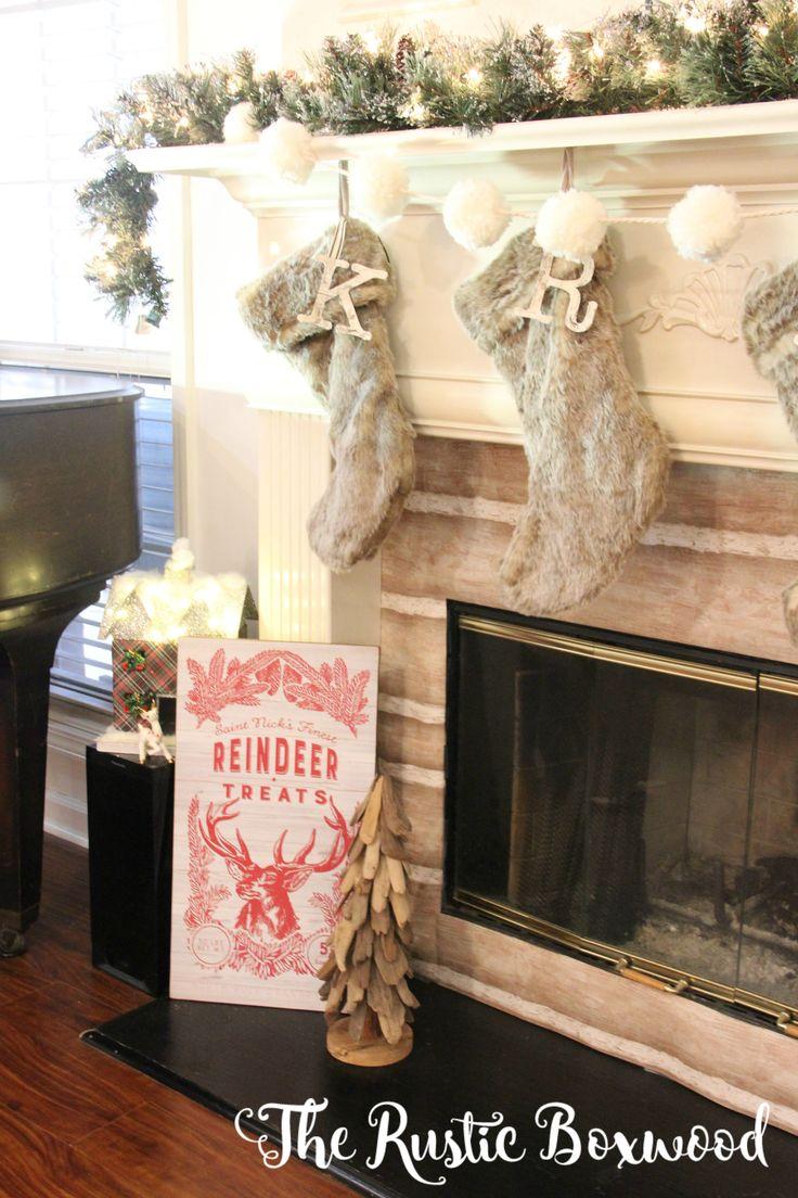 Hometalk diy christmas window decoration - Decorating The Mantel For Christmas With Home Decorators Collection The Rustic Boxwood Diy