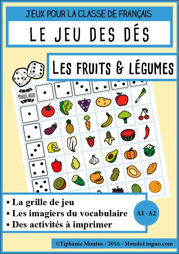 JDD - Les fruits et légumes | Mondolinguo - Français