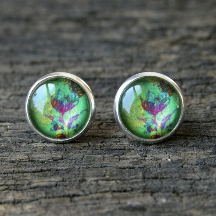 Bloom silver stud earrings by Nest of Pambula now available at Ari Liv, jewellery shop www.ariliv.com.au