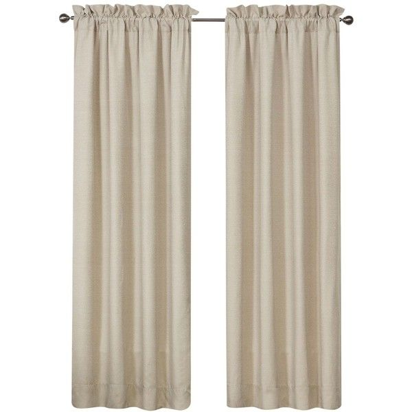 "Waterford Gwyneth Pole Top Pair 100"" x 84\"" Window Drapery ($215) ❤ liked on Polyvore featuring home, home decor, window treatments, curtains, pale blue, rod pocket curtains, waterford, twin pack, pair curtains and pale blue curtains"