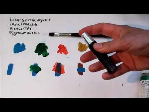 Tipps für Anfänger der Acrylmalerei (2): Farben - YouTube