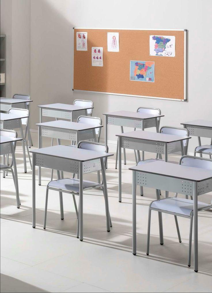 Pupitres y sillas para colegios e institutos mobiliario for Sillas escolares para zurdos