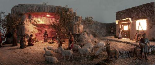 PRESEPE artistico artigianale in gesso, Natività natale statue pastori gesù   eBay