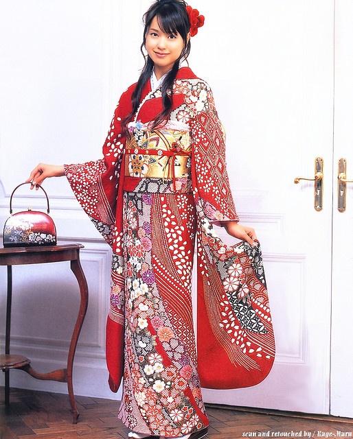 Erica Toda (a Japanese actress)- kimono