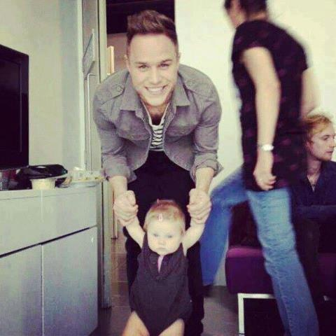 Olly Murs with baby Lux