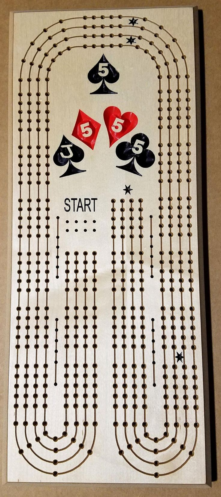2 3 or 4 person perfect hand cribbage board  etsy in 2020