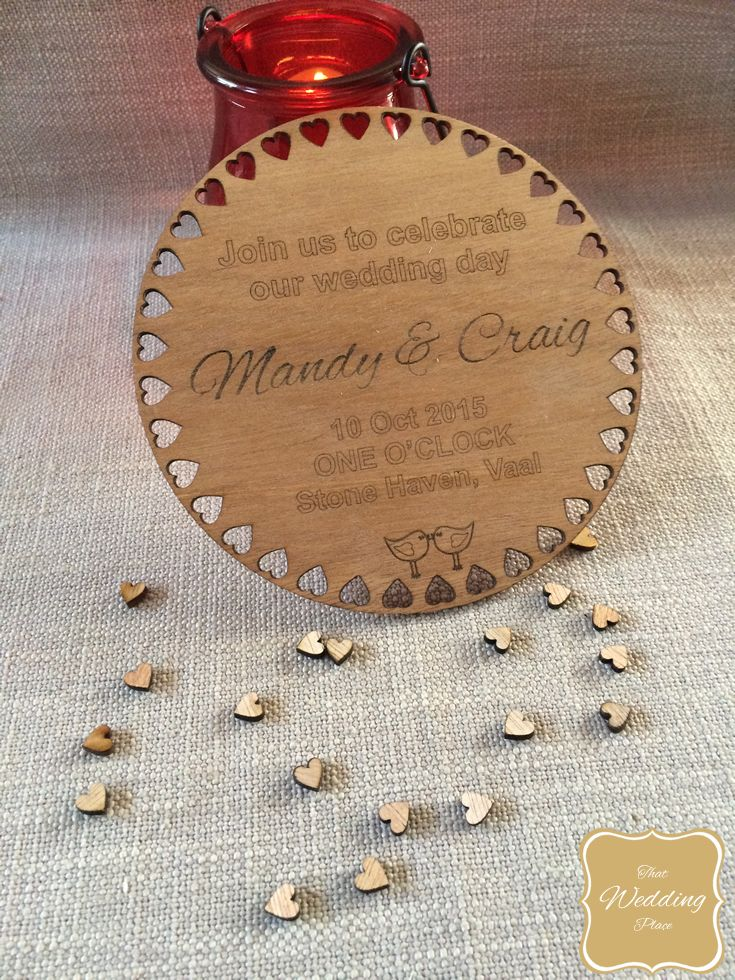 Wedding Invite - Round Heart Border