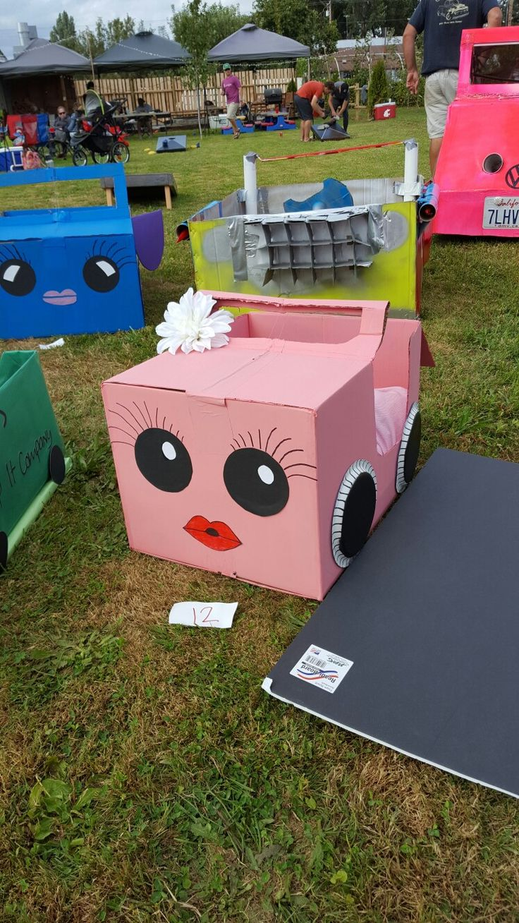 Cardboard Boxcar..Drive in movie night for kids!!!