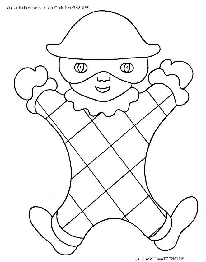 Les 25 meilleures id es de la cat gorie coloriage carnaval - Image a peindre gratuit ...