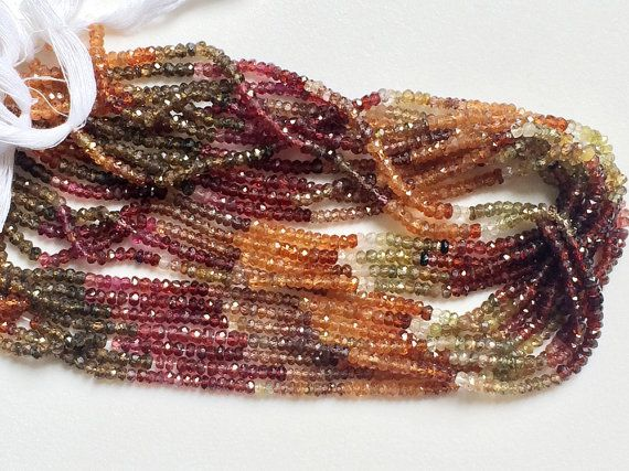 Tunduru Sapphire Faceted Rondelle Beads Natural by gemsforjewels