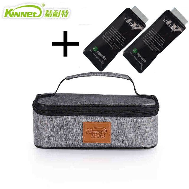 KinNet ice cooler box thermal bag hand bag kids lunch bag aluminum foil insulated thermal insulin cooler bag lunch box ice pack