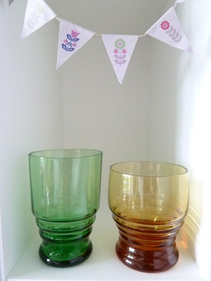 vintage glaasjes/ glasses €4,50 set van #TanteSaartje# http://verkopers.marktplaats.nl/7177989