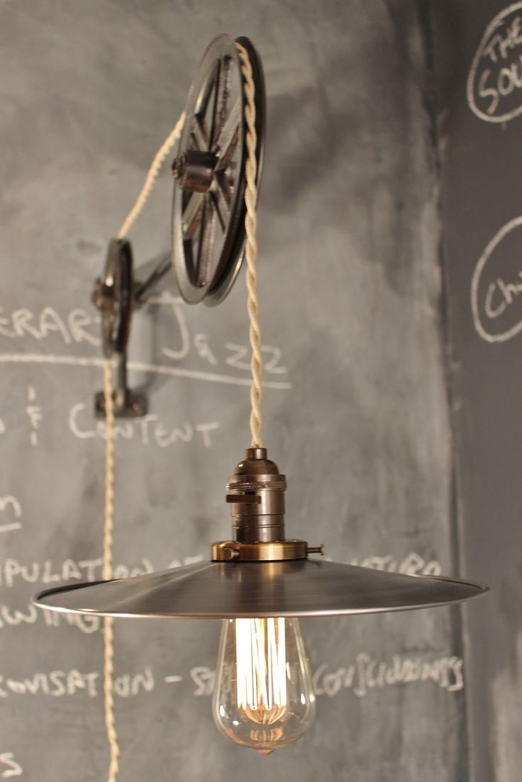 17 best images about pulley on pinterest antiques diy pendant light and reclaimed furniture. Black Bedroom Furniture Sets. Home Design Ideas