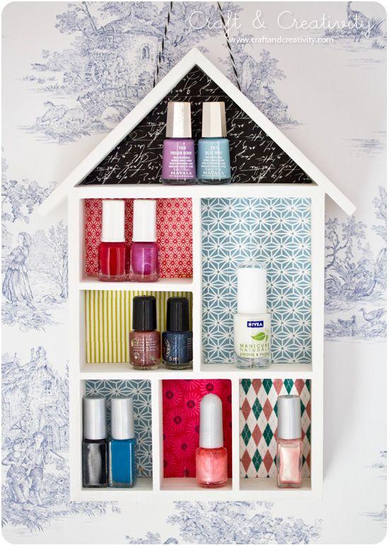 17 Best Ideas About Nail Polish Shelves On Pinterest