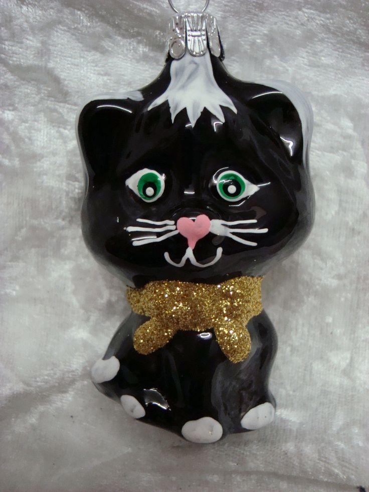 weihnachtsschmuck baumschmuck figur katze schwarz. Black Bedroom Furniture Sets. Home Design Ideas