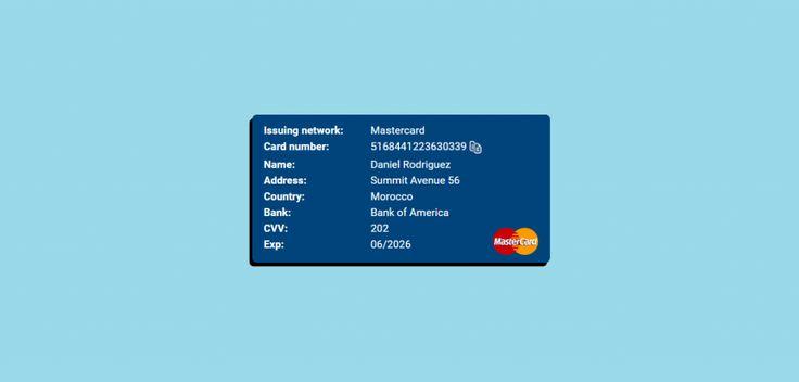 Random Credit Card Generator MasterCard & VISA With CVV, Exp