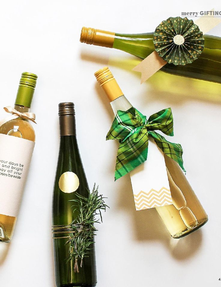 74 best diy gift wrapping images on pinterest gift for Diy wine bottle gifts