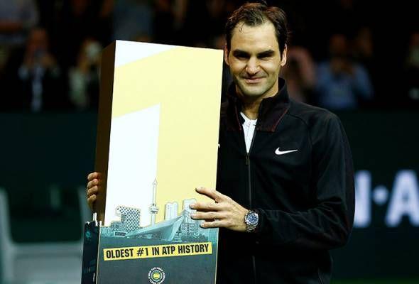 "Federer catat sejarah jadi pemain tertua No.1 dunia   Roger Federer muncul menjadi pemain tertua menduduki ranking pertama dunia pada usia 36 tahun selepas mara ke separuh akhir tenis Terbuka Rotterdam.  Federer yang berasal dari Switzerland telah memenangi 20 Grand Slam selepas menundukkan Robin Haase 4-6 6-1 6-1 sekali gus menyingkirkan Rafael Nadal dari kedudukan pertama ranking dunia.  ""Mencapai kedudukan nombor satu merupakan pencapaian menakjubkan dalam tenis. Apabila semakin berusia…"