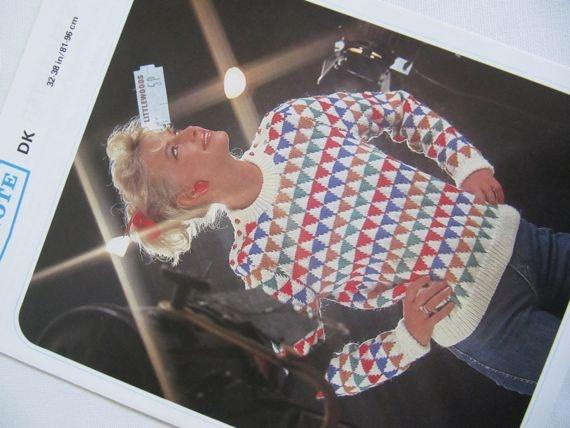 1980s Knitting Pattern Ladies Jumper Pullover by DaylightFrockery, £2.50