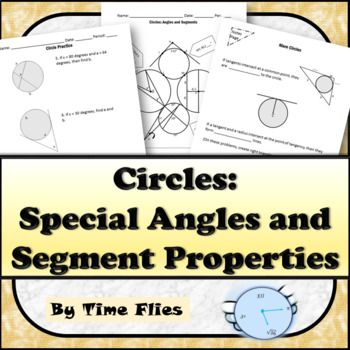 About this product: The main topic of this lesson is parts of circles. There are notes and practice on how to find angles and arcs associated with the following: *Central Angles *Inscribed Angles *Intercepted Arcs *Major and Minor Arcs *Chords *Secants *Tangents This resource is also in my Geometry Curriculum